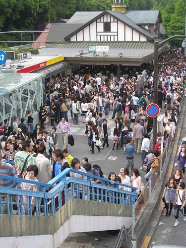 Outside Harajuku station