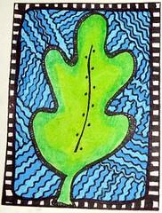 Leaf Zendoodle ATC