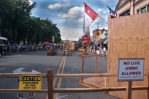 Safety Signs at Whiskey Row Shootout