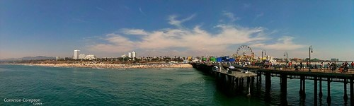 Station Fire Plume from the Santa Monica Pier