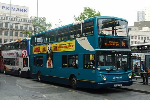 DAF DB250LF/Alexander ALX400, T296 FGN, Arriva North West, Piccadilly Gardens