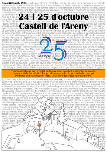 Cartell excursió 25 anys