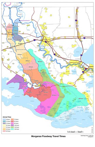 Morganza Floodway Travel Times by Team New Orleans, US Army Corps of Engineers
