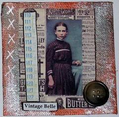 Vintage Belle Meander Book Page