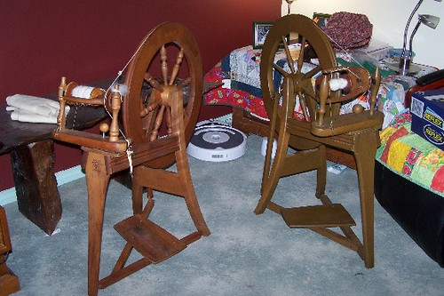 Two Ashford Spinning Wheels