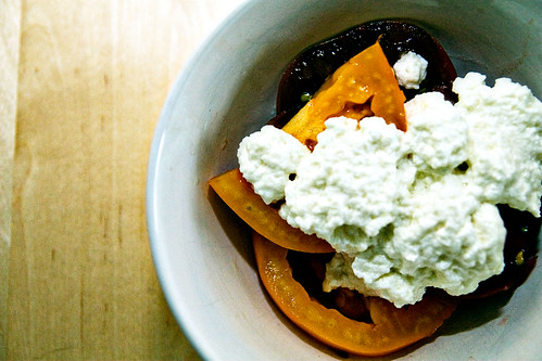 Ricotta, heirloom tomatoes