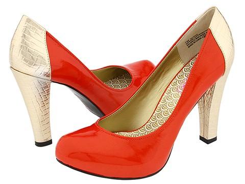Oh Deer! orange and gold heels