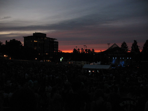 Sunset over the Decemberists