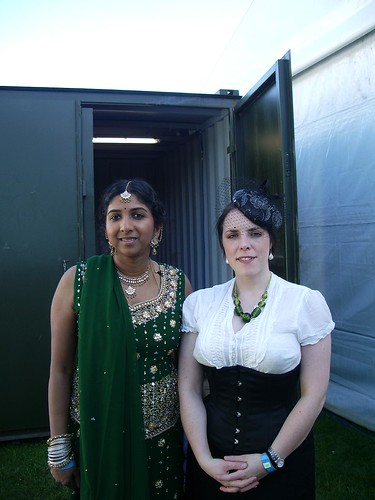 Chandy looking lovely, me playing the imperialist pigdog.