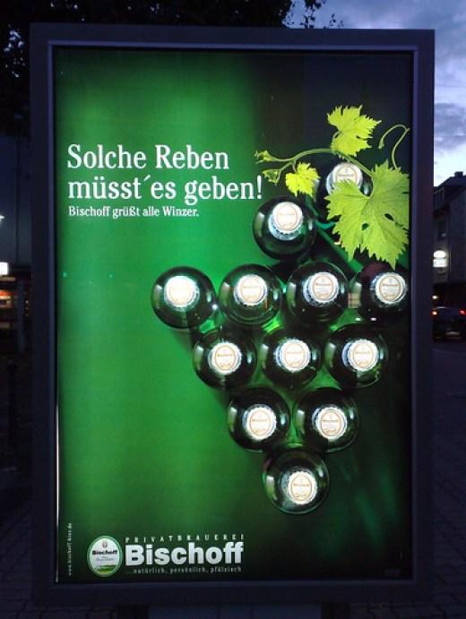 Werbung der Privatbrauerei Bischoff aus Winnweiler
