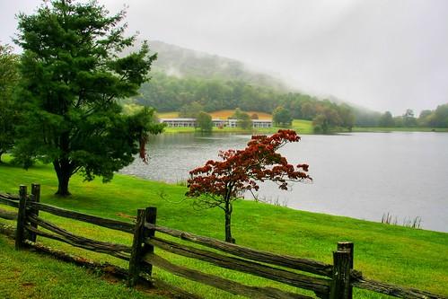 Rain on Abbot Lake