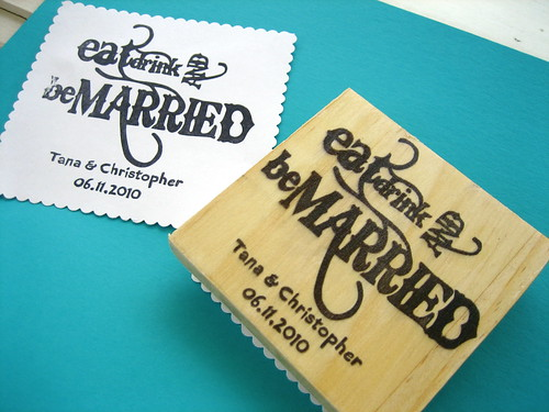 rubber stamp make your own wedding blog