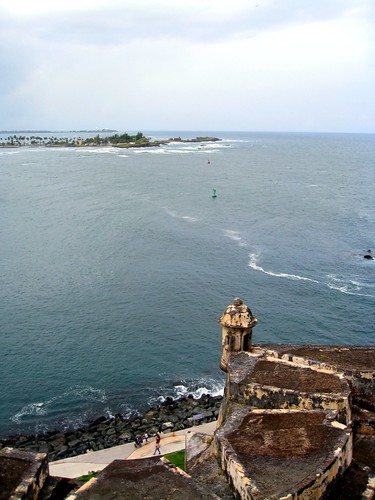 the view from the bathroom at el morro