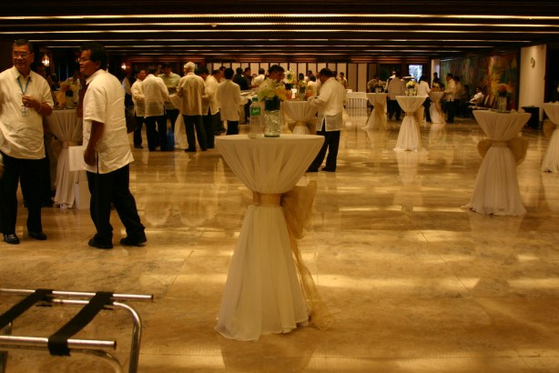 The Heroes Hall at the ground floor of the Malacanang Palace, transformed into a Dining Area after the Lupong and Kalasag Awards rites.