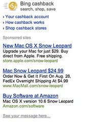 Bing Shopping - Snow Leopard Sponsored Links