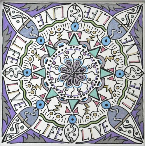 mandala 13 marker & ink on paper (c) 2009, Lynne Medsker