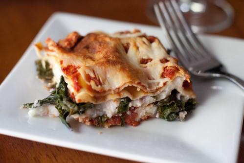 Spicy Kale Lasagna | Dainty Chef