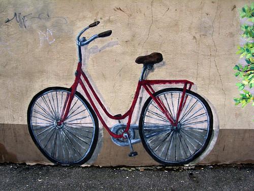 Bicycle mural