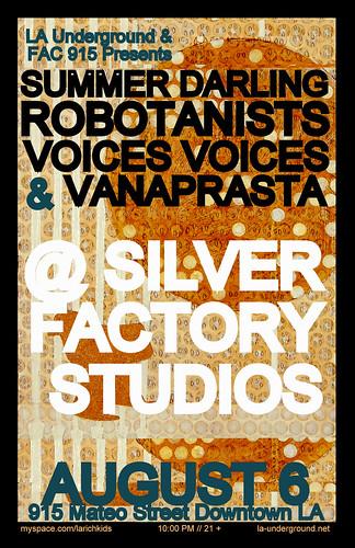 ROBOTANISTS @ Silver Factory Studios / Downtown LA - 8.6.09