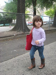 Madeline's first day of preschool