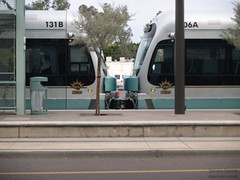Kissing trains at Grigio Metro