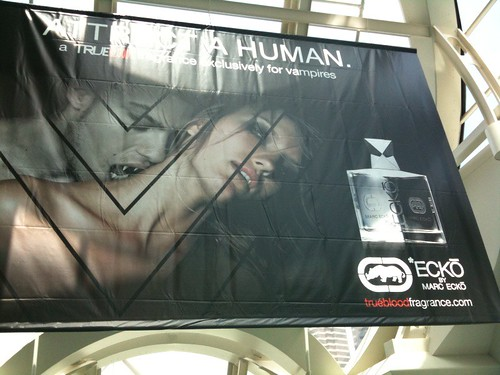 Attract a Human Trueblood fragrance ad #sdcc