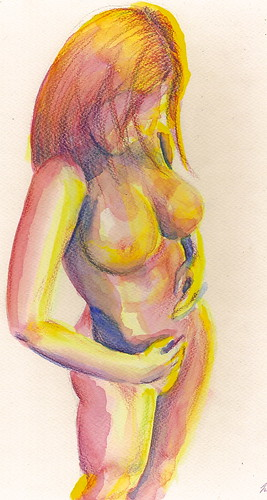 Expecting - a new nude by Jennie Rosenbaum
