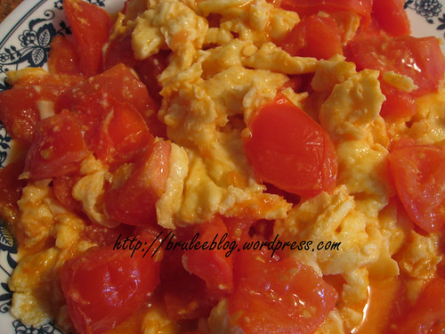 Chinese style scrambled eggs and tomato