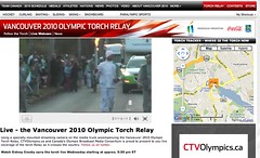 Live Webcam @ Vancouver 2010 Olympic Torch Relay - Pix 4 (Cia Tweel)