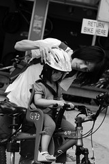 safety first! helmet on!