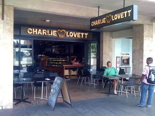 Charlie Lovett cafe, Haymarket