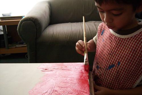 pintando.