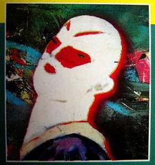 Philip Ridley, Fenicotteri in orbita, Mondadori, Milano 1996, Art Director: Federico Luci; alla copertina: Salomè, © David Salle 1981, (part.), 2