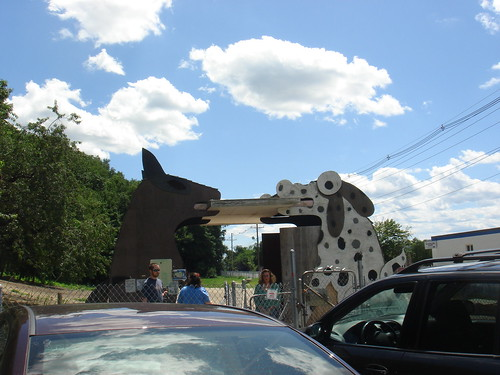 Maybe the Big Wooden Dogs could use a Smidge of Paint?