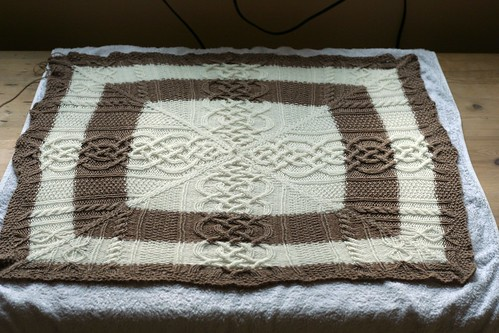 cable cross baby blanket