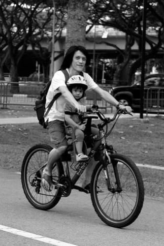 biking with daddy