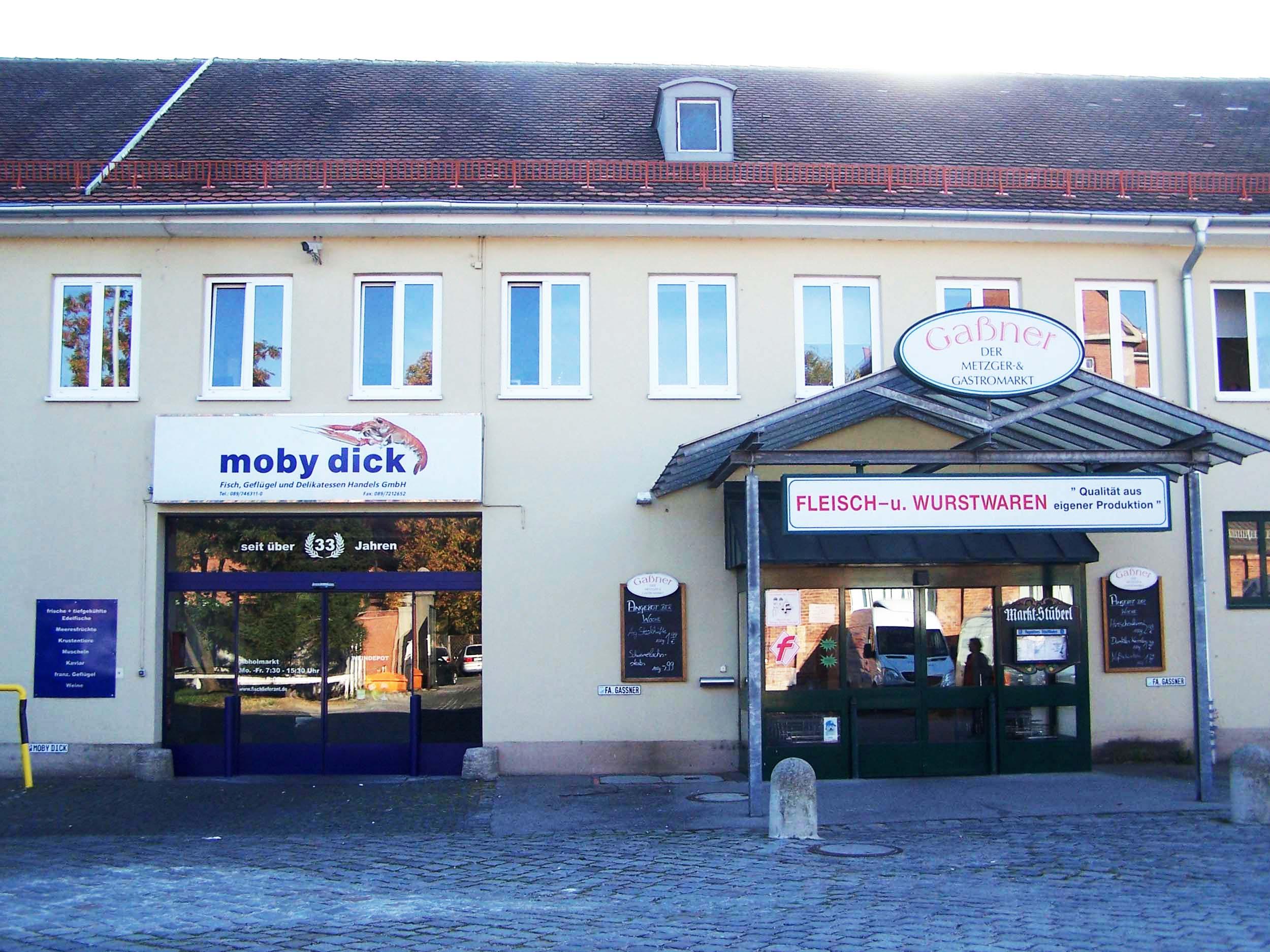 Moby Dick München, Zenettistraße Schlachthof. Fleisch- und Wurstwaren Gaßner Metzger- & Gastromarkt