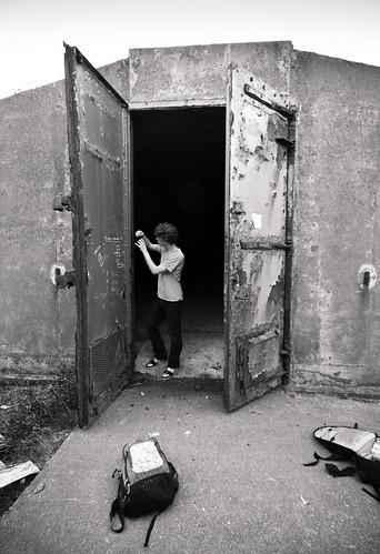 A fellow Urban Explorer taking photographs (Pete).