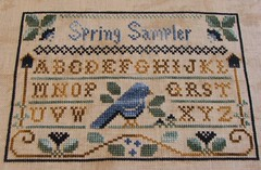 Completed Spring Sampler / Little House Needleworks