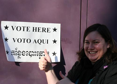 I looooove to vote!