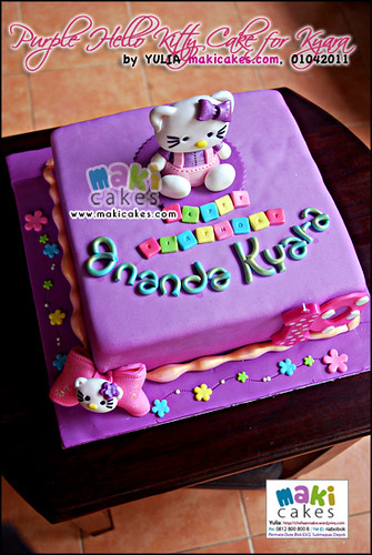 Purple Hello Kitty Cake for Ananda Kyara_ - Maki Cakes