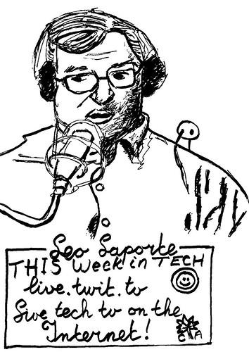 Drawing Leo Laporte, part 21