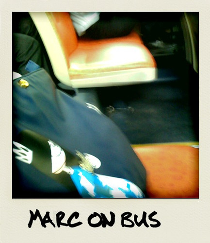 Miss Marc on the bus