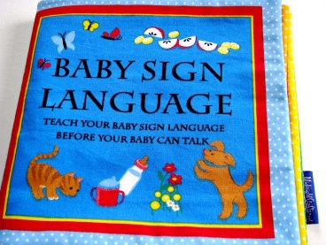 A baby sign language book for Baby Elliot
