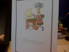 The card that SeniorNet made for me