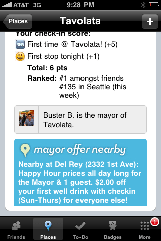 Foursquare offer
