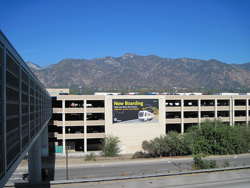 The Now Boarding billboard facing motorists on the 210 freeway.