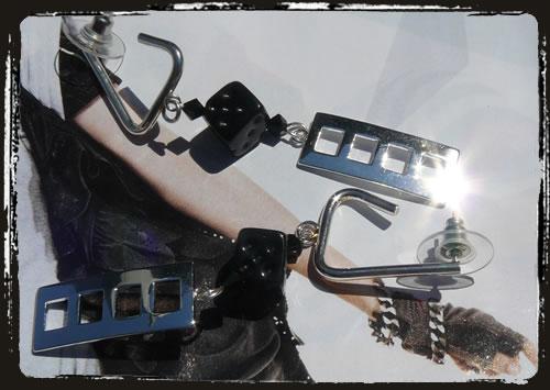 orecchini neri - black earrings MEHGDNE