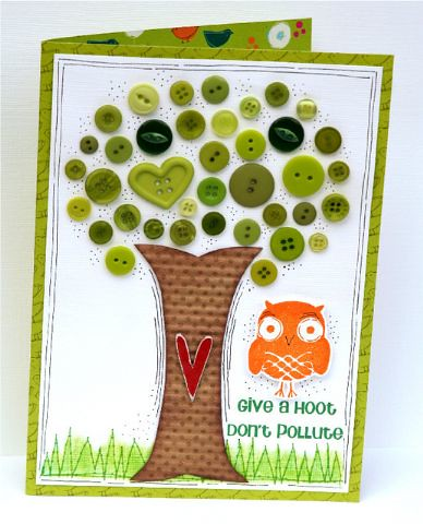 Shanna Vineyard's Give a Hoot… Don't Pollute Card