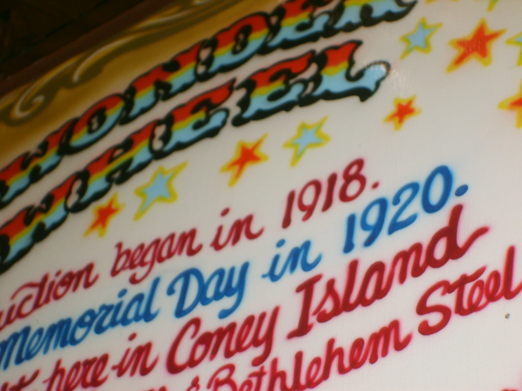 Signage at the Wonder Wheel